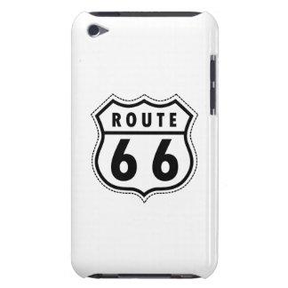Verkehrsschild des Weg-66 iPod Case-Mate Hülle