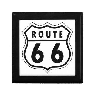 Verkehrsschild des Weg-66 Schmuckschachtel