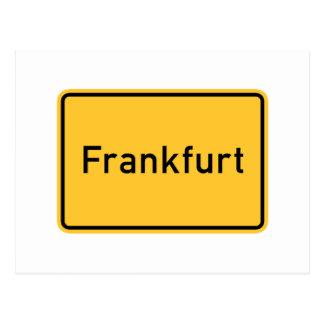 Verkehrsschild Frankfurts, Deutschland Postkarten