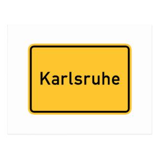 Verkehrsschild Karlsruhes, Deutschland Postkarten