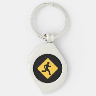 Verkehrsschild - Läufer Schlüsselanhänger