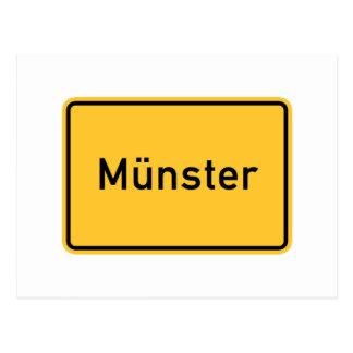 Verkehrsschild Munsters, Deutschland Postkarten
