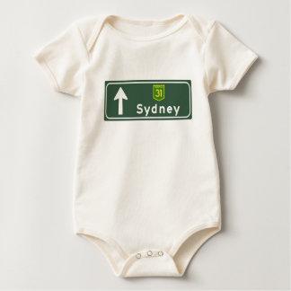 Verkehrsschild Sydneys, Australien Baby Strampler