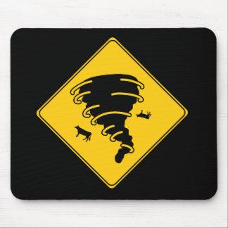 Verkehrsschild-Tornado Mauspad