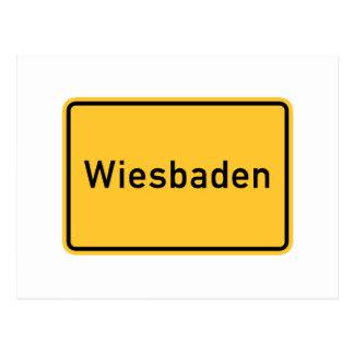 Verkehrsschild Wiesbadens, Deutschland Postkarte
