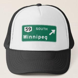 Verkehrsschild Winnipegs, Kanada Truckerkappe