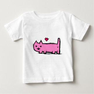 Verkratzte Katze Baby T-shirt