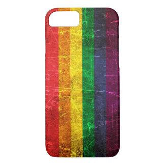 Verkratzte und getragene Vintage Gay iPhone 8/7 Hülle