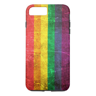 Verkratzte und getragene Vintage Gay iPhone 8 Plus/7 Plus Hülle