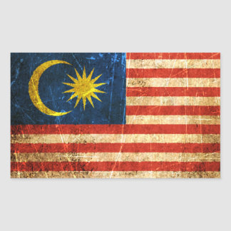 Verkratzte und getragene Vintage malaysische Flagg Aufkleber