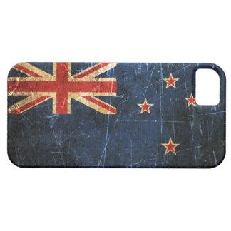 Verkratzte und getragene Vintage Neuseeland-Flagge iPhone 5 Hüllen
