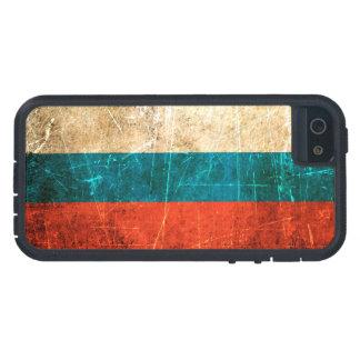 Verkratzte und getragene Vintage russische Flagge iPhone 5 Etuis