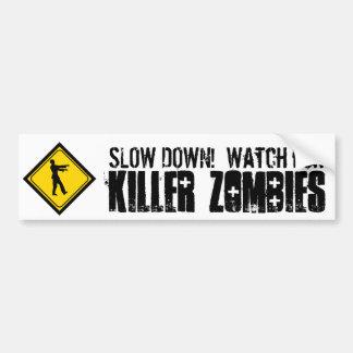 Verlangsamung! Passen Sie für Mörder-Zombies auf Auto Aufkleber