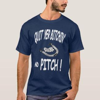 Verlassen Sie ein Neigungs-Hufeisen-grundlegendes T-Shirt