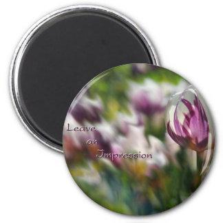 Verlassen Sie einen Eindrucks-Magneten Runder Magnet 5,7 Cm