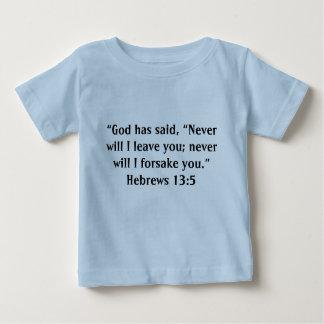 """""""Verlassen Sie Ihnen"""" Baby T nie Baby T-shirt"""