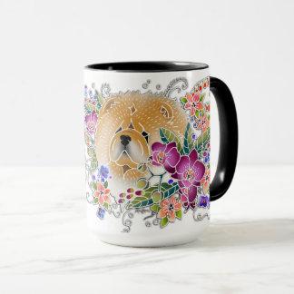 Verlassen Sie Raum im Garten für Ihren Chow-Chow Tasse