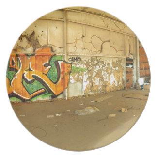Verlassene Graffiti Teller