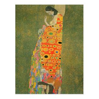 Verlassene Hoffnung durch Gustav Klimt Postkarte