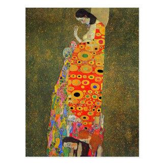 Verlassene Hoffnung Gustav Klimt Postkarte