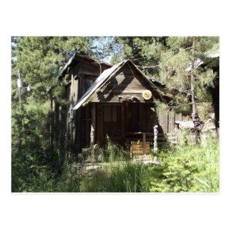 Verlassene Kabine im Holz Postkarte