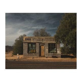Verlassene Post in Kelso Kalifornien Holzdruck