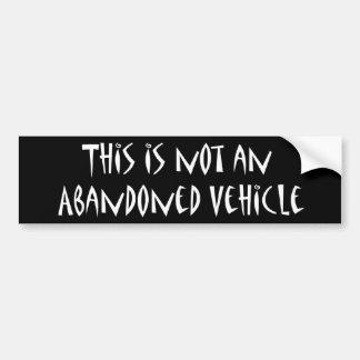 Verlassener Fahrzeug-Autoaufkleber Autoaufkleber