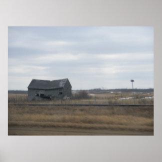 Verlassenes Bauernhaus Plakatdrucke