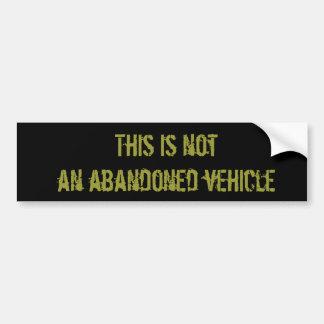 Verlassenes Fahrzeug Autoaufkleber