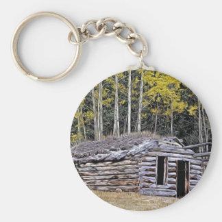 Verlassenes Jägerkabine Britisch-Columbia Schlüsselanhänger