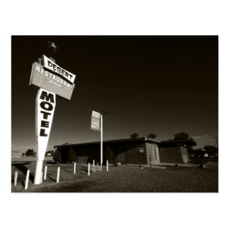 Verlassenes Motel Postkarte