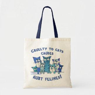Verletzte Felines Grausamkeit zu den Katzen Tragetasche