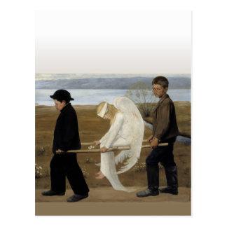 Verletzter Engel Postkarte