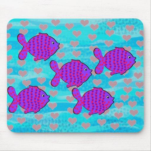 Verliebte Fische Mousepads