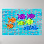 Verliebte Fische Poster