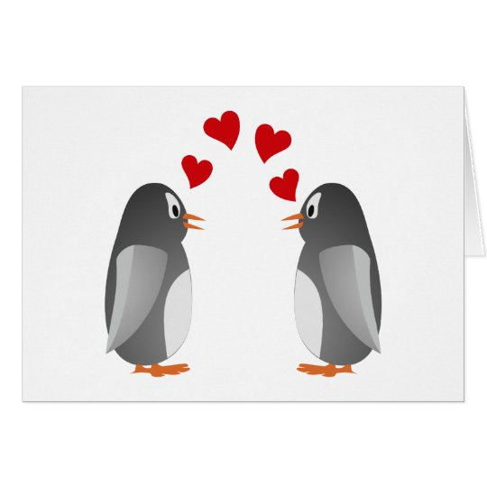 verliebte Pinguine penguins love Karte