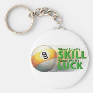 Verlieren Sie Ball des Fähigkeits-Gewinn-Glück-9 Schlüsselanhänger