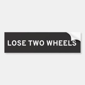 Verlieren Sie den zwei Rad-Autoaufkleber Autoaufkleber