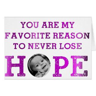 Verlieren Sie nie Hoffnung - Mckenna Karte