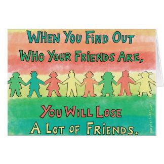 Verlierende Freunde ist nicht so schlecht Grußkarte