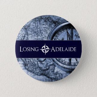 Verlierender Adelaide-Blau-Knopf Runder Button 5,1 Cm