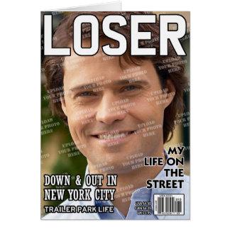 Verlierer-personalisiertes Titelseite Karte
