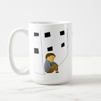 Verliert Kind Kaffeetasse