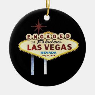 Verlobt in Las- Vegasverzierung Keramik Ornament