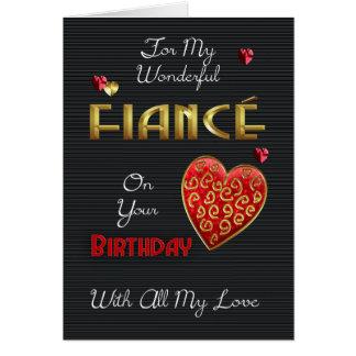 Verlobte, Geburtstag mit Goldeffekt u. Grußkarte