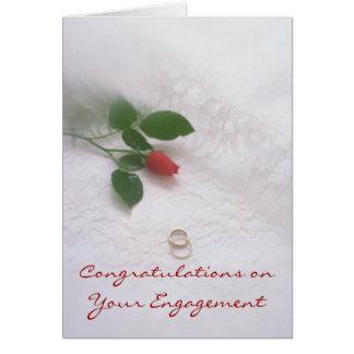 Verlobung Grußkarte