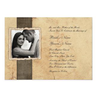 Verlobungs-Foto-Vintage Hochzeits-Einladungen