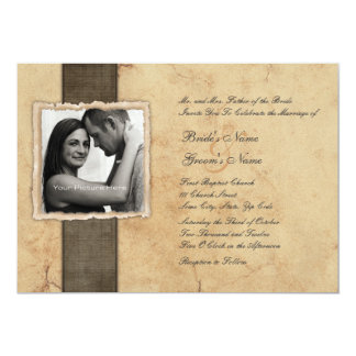 Verlobungs-Foto-Vintage Hochzeits-Einladungen 12,7 X 17,8 Cm Einladungskarte