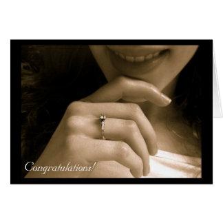 Verlobungs-Glückwünsche Karte