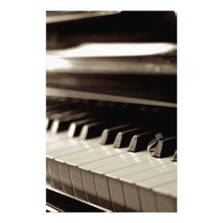 Verlobungs-Klavier-Schlüssel Briefpapier